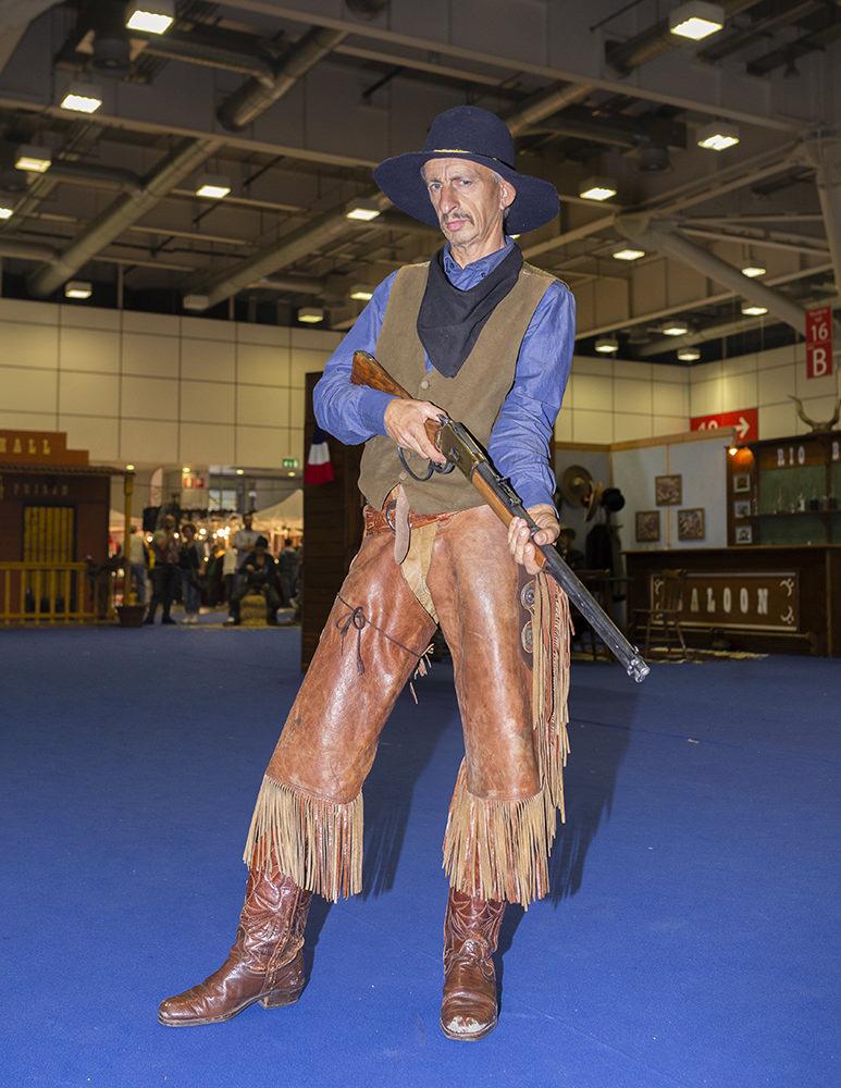 cowboy attore in fiera del west