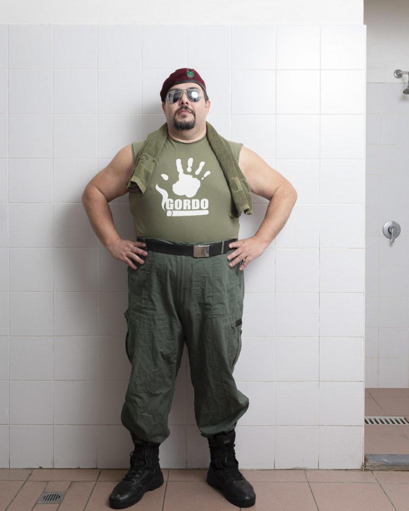 ritratto fotografico wrestler gordo